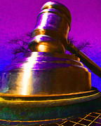 Sculptures Posters - Giant Gavel - 20130118 Poster by Wingsdomain Art and Photography