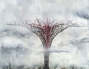 Mystical Landscape Art - Giant Plant by Bjorn Eek