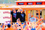Mlb Metal Prints - Giants 2010 Champions Parade 2 . Photo Artwork Metal Print by Wingsdomain Art and Photography