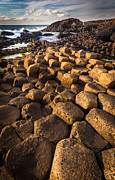Hexagons Photos - Giants Causeway Bricks by Inge Johnsson