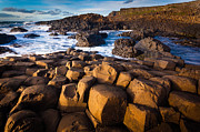 Hexagons Acrylic Prints - Giants Causeway Surf Acrylic Print by Inge Johnsson