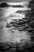 Giant's Causeway Waves  Print by Inge Johnsson