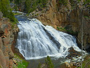 Yellowstone Mixed Media - Gibbon Falls - Yellowstone National Park by Photography Moments - Sandi