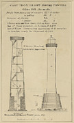 Iron  Drawings Prints - Gibbs Hill Lighthouse Print by Jerry McElroy
