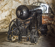 Tunnels Framed Prints - Gibraltar Siege Tunnel Cannon Framed Print by Deborah Smolinske