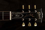 Guitar Posters - Gibson Les Paul Model Poster by Maj Seda