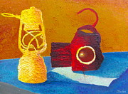 Oil Lamp Originals - Giddy Gaslight  by Francisco Sanchez Salas