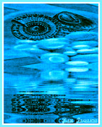 Water Flowing Mixed Media Posters - Gifts From The Sea Poster by Ray Tapajna