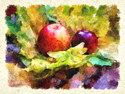 Apple Digital Art Originals - Gifts of autumn by Marina Likholat