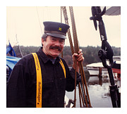 Captains Prints - Gig Harbor Captain Pete Print by Jack Pumphrey