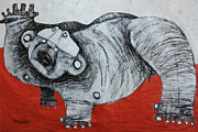 Outsider Art Originals - Gigantes No. 2 by Mark M  Mellon