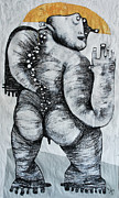 Outsider Art - Gigantes No. 6 by Mark M  Mellon