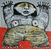 Outsider Art Mixed Media - Gigantes No. 7 by Mark M  Mellon