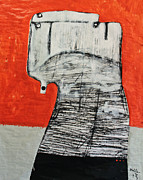 Charcoal Mixed Media Metal Prints - Gigantes No. 8 Metal Print by Mark M  Mellon