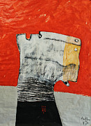 Grey Mixed Media Originals - Gigantes No. 9 by Mark M  Mellon