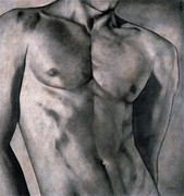 Charcoal Drawings - Gigolo by Lawrence Supino