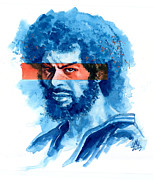 Rap Painting Prints - Gil Scott-Heron Print by Ken Meyer jr
