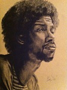 Inspire Drawings Metal Prints - Gil Scott Heron Metal Print by Larry Silver