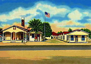Courts Paintings - Gila Auto Court In Gila Bend Az 1940s by Dwight Goss