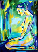 Nudes Painting Originals - Gilded glow by Helena Wierzbicki