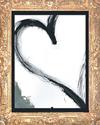 Happy Mixed Media Framed Prints - Gilded Love Framed Print by Anahi DeCanio