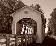 Tim Moore Prints - Gilkey Covered Bridge Print by Tim Moore