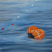 Fishing Art On Canvas Posters - Gill Net Floats Poster by Pamela Heward