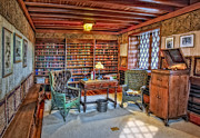 Gillette Castle Library Print by Susan Candelario
