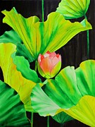 Floral Watercolor Painting Originals - Gimme Shelter by Robert Hooper
