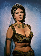 Beat Painting Posters - Gina Lollobrigida Poster by Paul  Meijering