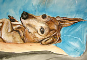 Dachshund Paintings - Ginger 2013 by Carol Blackhurst