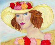 Young Woman Pastels Prints - Ginger Print by Arlene Crafton