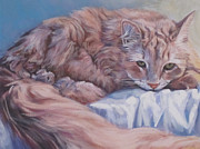 Ginger Cat Prints - Ginger Cat Print by Lee Ann Shepard