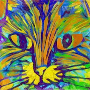 Domestic Cats Digital Art - Ginger Kitty by Michelle Calkins