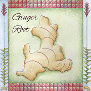 Red Ginger Posters - Ginger Root Poster by Christy Beckwith