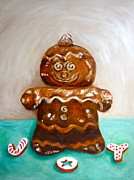 Cheer Painting Posters - Gingerbread Joy Poster by Victoria Lakes