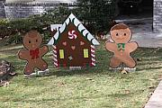 Yard Decorations Posters - Gingerbread Man Poster by Dick Willis
