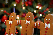 Treats Prints - Gingerbread Men in a Line Print by Amy Cicconi