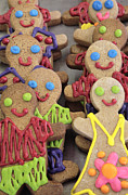 Cookie Prints - Gingerbread People Print by Neil Overy