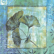 Leaf Painting Prints - Gingko Spa 2 Print by Debbie DeWitt