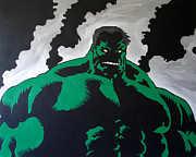 Avengers Painting Originals - Ginormous Green Rage Monster by James Gilmore