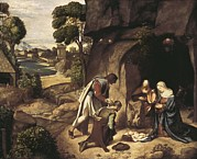 Shepherds Framed Prints - Giorgione, Giorgio Da Castelfranco Framed Print by Everett