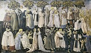Societies Framed Prints - Giovanni Di Paolo 1402-1482. The Framed Print by Everett