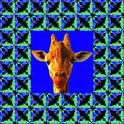 Giraffe Digital Art - Giraffe Abstract Window 20130205p100 by Wingsdomain Art and Photography