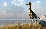 Daniel Eskridge - Giraffe and Giant Baobab