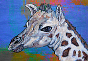Painted Mixed Media - Giraffe - Baby Announcement by Ella Kaye