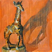 Donna Shortt Painting Metal Prints - Giraffe Metal Print by Donna Shortt