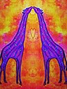 Giraffe Kisses Print by Eloise Schneider