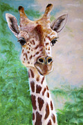 Jungle Animals Paintings - Giraffe by Marie Stone Van Vuuren