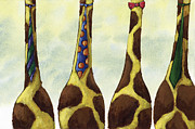 Tie Posters - Giraffe Neckties Poster by Christy Beckwith